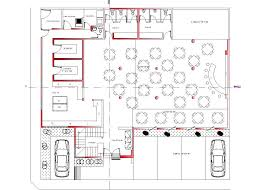 restaurant hotel roof top hotel 2d dwg plan for autocad u2022 designscad