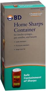 wall mounted sharps containers bd home sharps container 1 each pack of 2 walmart com