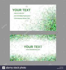 green triangle mosaic business card template stock vector art
