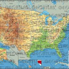 map of united states canada usa and canada physical map map of usa