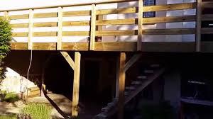 piscine sur pilotis terrasse bois sur pilotis artibois 91 youtube