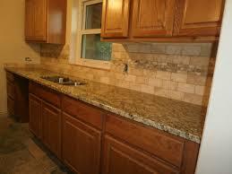 double bowl sink granite countertops travertine backsplash vanity
