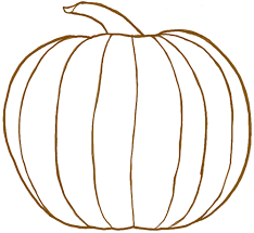 how to draw a pumpkin for in easy step by step drawing