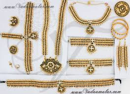 indian bridal jewellery set traditional 9 ornaments for