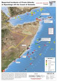 Map Of Somalia Reported Incidents Of Pirate Attacks And Hijackings Off The Coast