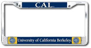 uc berkeley alumni license plate automotive shop college wear