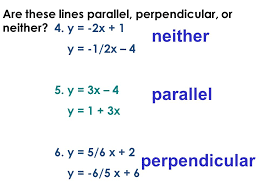 are these lines parallel perpendicular or neither