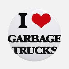 garbage trucks ornament cafepress