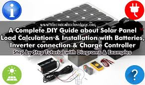 complete solar panel installation u0026 calculation step by step