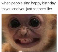 Monkey Face Meme - dopl3r com memes when people sing happy birthday to you and