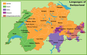 map in language map of languages in switzerland
