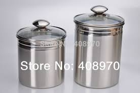 28 stainless steel canisters kitchen vintage set of 4