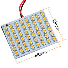 mengs t10 ba9s sv8 5 led car light with 3 adapters 48x 3528 smd