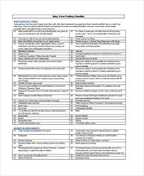 traveling checklist images Travel checklist templates 11 free samples examples format jpg