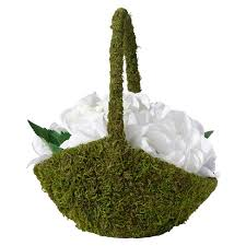 flower basket moss flower basket target