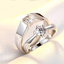 rings love images Korean style couple rings open zircon love couple ring men and jpg
