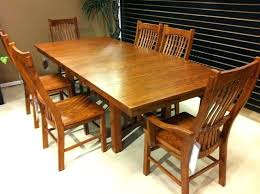 Mission Chairs For Sale Meric Ok Mission Style Dining Table Plans With Leaves Craftsman