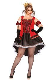 size royally queen of hearts halloween costume