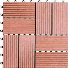 naturesort 1 ft x 1 ft 8 slate composite deck tiles in dark tan