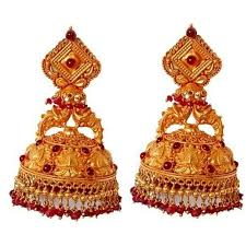 antique gold jhumka earrings temple gold jhumka yagna jewels pvt ltd manufacturer in mahal