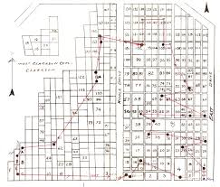 monroe county cemetery records map w clarkson cem