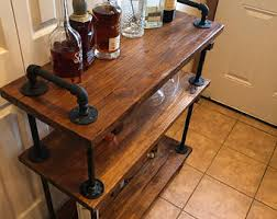 and wood industrial furniture etsy