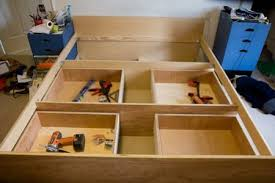 bed frame make your own bed frame with storage srthfbe make your
