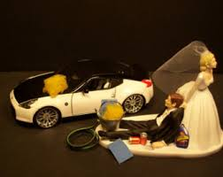 mechanic cake topper shopping and groom auto mechanic wedding cake by mikeg1968