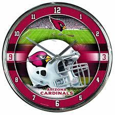 New York Giants Home Decor Amazon Com Nfl Arizona Cardinals Chrome Clock 12