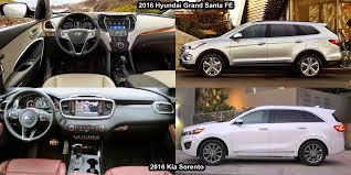 kia sorento vs hyundai santa fe benim otomobilim 2016 kia sorento vs 2016 hyundai grand santa fe