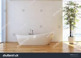 modern bright living room interiors 3d stock illustration