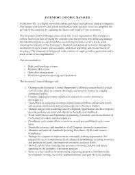 functional resume description inventory control resume functional resume sle inventory