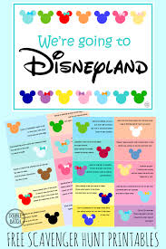 disney themed scavenger hunt free clues featuring child u0027s