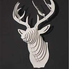 other deer wood wall hangings wall decor home decoration white