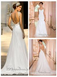 simple open back wedding dresses beaded cap sleeves a line simple wedding dresses with