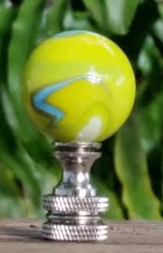 key lime green key lime green finial mermaid glass marble brown blue white