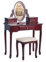 Cherry Bedroom Vanity Sets Merax Vanity Set With Stool Dressing Make Up Table With 3 Drawers
