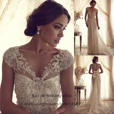 aliexpress com buy vintage lace wedding dress 2015 beaded a line