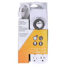 Westek Electric 30 Min In by Woods 22575wd Indoor 8 Outlet Power Strip With Built In Mechanical
