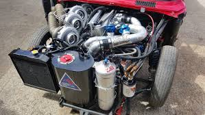 rob dahm rx7 mazda rx 2 with a quad turbo four rotor update engineswapdepot com