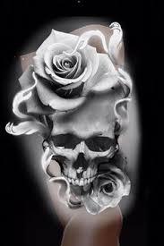 tatuagem de caveira skull tattoo tatuagem de rose rose tattoo