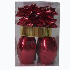 gift wrap ribbon embossed holographic metallic gift wrap ribbon set for supermarket