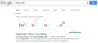 Zerg Rush Know Your Meme - google easter eggs you have to test