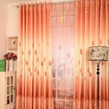 Pink And Orange Curtains Country Leaf Style Orange Lines Stunning Curtains Buy Orange