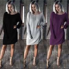 long sleeve jumper dresses for women with cable knit ebay