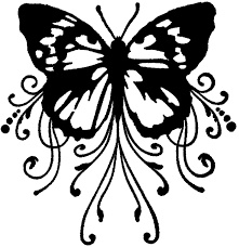 free paper craft cutting designs for silhouette cameo butterfly