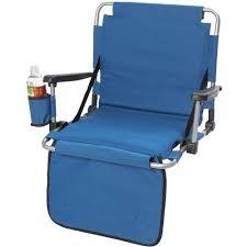 Armchair Drink Holder Black Cushion Stadium Chair Arm Cup Holder Outdoor Folding