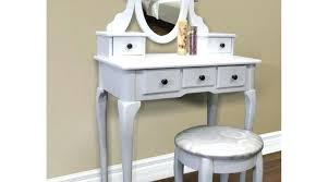 vanity table with lighted mirror and bench glamorous makeup desk with drawers 5 white and lighted mirror