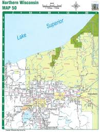 Wisconsin Topographic Map by Northern Wisconsin Road Atlas