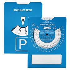 travel calculator images Promotional cardboard parking disk quot travel calculator quot blue jpg